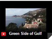 Green side of golf - video